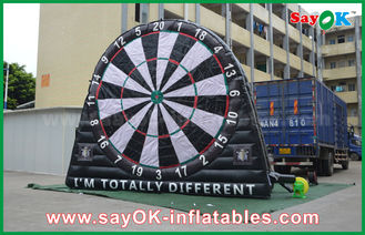 Cina PVC Tarpaulin Inflatable Sports Games, Custom Advertising Inflatables Dart Board pemasok