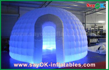 Cina 210D Oxford Cloth Inflatable Igloo Air Tent Putaran Dome Tent Dengan LED Light pemasok