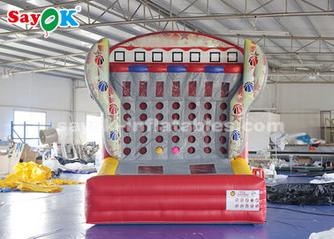 Cina 0.4mm PVC Tarpaulin Inflatable Sports Games Connect Four 4 In A Row Basketball Game pemasok