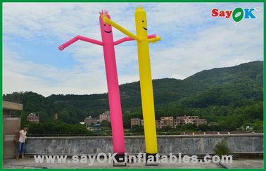 Cina Liburan Dekorasi Merah / Kuning Inflatable Tabung Man Komersial Dancing Air Man pemasok