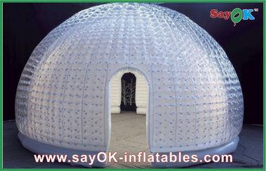 Cina 8 orang vinil karet udara tenda Dome tiup gelembung tenda untuk hiburan pemasok