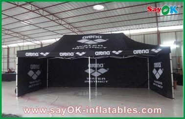 Cina Aluminium Bingkai Folding Tent Waterproof / Hitam Raksasa terbuka Tent pemasok