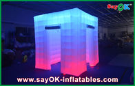 Cina 2.4x2.4x2.5m Big Inflatable Led Photo Booth Pernikahan Pondok Daun Inflatable perusahaan