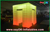 2 Membuka Pintu Cube Cahaya Inflatable Photo Booth Dengan Top Led