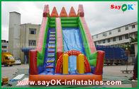 Cina Keselamatan PVC terpal Inflatable Bouncer Slide Kuning / Hijau Warna Untuk Bermain pabrik