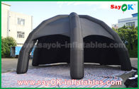 Hitam PVC Inflatable Air Tent / Iklan Dome Spider Tent Dengan Blower