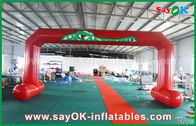 Cina Merah PVC dicetak mulai garis Finish lengkungan ganda jahit tiup masuk Arch pabrik