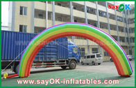 Cina 7ml X 4mH Raksasa Inflatable Entrance Arch / Rainbow Arch Oxford Cloth untuk Event pabrik