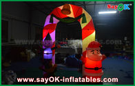 Cina Mylon Cloth Inflatable Arch Natal Dekorasi Arch Dengan LED Light pabrik