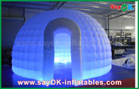 kualitas baik Inflatable Tent Air & 210D Oxford Cloth Inflatable Igloo Air Tent Putaran Dome Tent Dengan LED Light Dijual