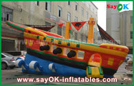 Cina Kapal Pirates Yellow / Red / Blue Inflatable Commercial Advertising Castle Bounce House pabrik