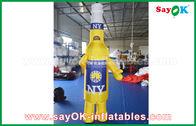 Cina Custom Yellow / Blue Portable Inflatable Kartun Karakter Untuk Iklan Komersial pabrik