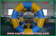 Cina Yellow / Blue Funny Rolling Inflatable Water Toys Mainan Inflatable Pool For Water Park pabrik