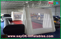 Cina 0.55mm PVC Custom White / Black Inflatable Soccer Field Commercial Grade Inflatables pabrik