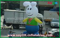 Cina 210D Oxford Cloth Lovely Rabbit Karakter Kartun Inflatable Untuk Promosi pabrik