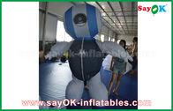 Cina Custom 2mH Oxford Cloth Robot Custom Inflatable Produk Biru Untuk Periklanan pabrik