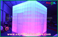 Cina Customized Shape PVC Coating Inflatable LED Photo Booth With Charming pabrik