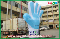 Cina Giant Oxford Custom Inflatable Products, Model Hand Blue Inflatable 2m yang tinggi untuk Acara pabrik