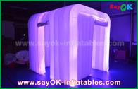 Cina White Oxford Cloth Led Strip Lighting Booth Foto Inflatable untuk Dekorasi Pernikahan pabrik