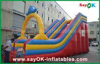 Cina Customized 0.55 PVC Tarpaulin Inflatable Bouncer Slide Untuk Fun Air / Taman Air pabrik