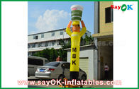 Cina Yellow Inflatable Air Dancer Cooker untuk Periklanan, Inflatable Sky Dancer pabrik