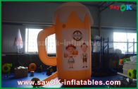 kualitas baik Inflatable Tent Air & Orange Custom Inflatable Products / Inflatable Cup and Beer untuk Promosi / Pesta Dijual