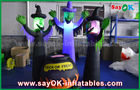 Cina 210D Oxford Cloth Inflatable Scary Ghosts dan Magic Jar dengan LED Lighting untuk Halloween pabrik