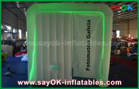 Cina 2.3 * 2 * 2.2m Photo Booth Inflatable dengan lampu LED, CE / Ul Standard Air Blower pabrik