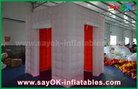 Cina Lampu LED Booth Foto Inflatable Dengan 2 Tenda Pintu / Tenda Inflatable pabrik