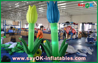 Cina Oxford Cloth Custom Inflatable Products, LED Inflatable Double Flower Untuk Dekorasi Panggung pabrik