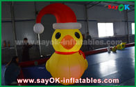 Cina RGB Led Lighting Yellow Duck Inflatable Model Dengan Blower Untuk Event ROHS pabrik