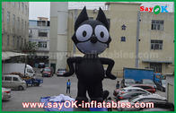 kualitas baik Inflatable Tent Air & 6mH Oxford Cloth Black Inflatable Cartoon Characters, Inflatable Cat Dijual