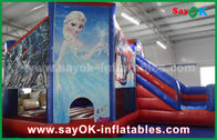 Cina Fairy Tale Theme Salju Anak Inflatable Bounce / Blow Up Bounce House pabrik