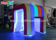 Cina Lampu Warna Pelangi LED Mini Blow Up Photo Booth Untuk Anak-Anak SGS ROHS pabrik