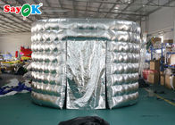 Cina Eksternal Silver / Black Oval Inflatable Booth Picture Dengan Blower 3.3 * 2.5 * 2.4m pabrik