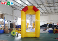 Cina Produk Inflatable Kustom tahan lama, Yellow Inflatable Booth Cash Money Grab Machine pabrik