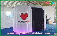 Cina Putih bulat Inflatable Photobooth 210D Oxford Kain Dan LED Light perusahaan