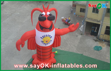 Festival Red Inflatable Kartun Karakter 420D Oxford Cloth