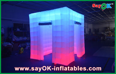 2.4x2.4x2.5m Big Inflatable Led Photo Booth Pernikahan Pondok Daun Inflatable