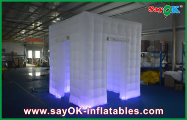 Kustom Putih Inflatable Photo Booth Shell Lampiran Inflatable Tent Cube Portabel