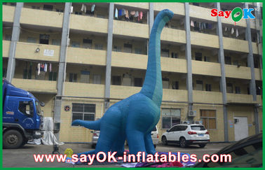 10m Biru besar Inflatable Dinosaur PVC Tiup Waterproof Up Kartun Karakter Naga