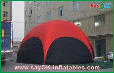3 M Red Hexagon besar terbuka Inflatable Tent PVC Untuk Vocation