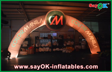Oxford Cloth Menyala Inflatable Entrance Arch 7 * 4m Terminal Point Untuk Olahraga