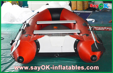 0.9mm PVC Inflatable Boats Aluminium Alloy Floor 4-6 Person Canoeing Kayak