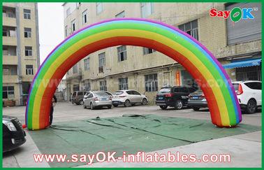 Beautiflu dan Kain Oxford Durable atau PVC Inflatable Rainbow Arch Dengan CE / UL Blower