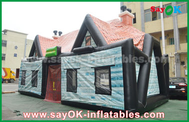 Raksasa 0.55mm PVC Tiup Tenda Udara Rumah Tiup Tenda Log Kabin Tahan Air