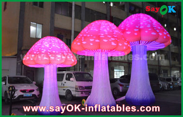 190T Nylon Red 2 - 5 M Mushroom Inflatable Led Light Untuk Iklan / Dekorasi