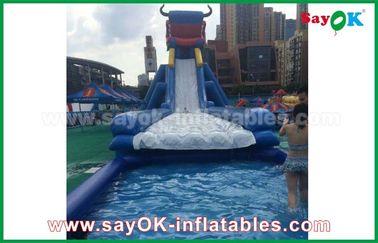 Giant Inflatable Bull / Elephant Cartoon Bouncer Slide untuk Dewasa dan Anak-anak