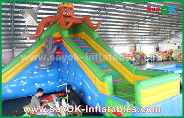 Giant Safety Inflatable Bouncer untuk taman hiburan, istana bouncing tiup