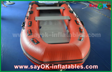 Durable Tarpaulin PVC Inflatable Boats dengan Aluminium Floor and Paddles